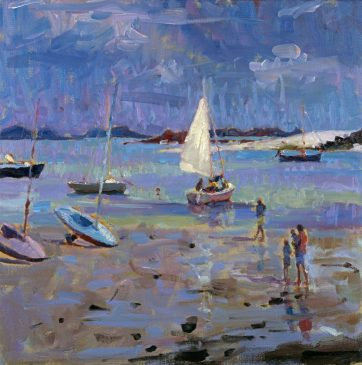 Stormy Light, Low Tide, Old Grimsby (HG380) Oil on Canvas 18