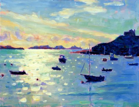 The Eastern Isles from Old Grimsby, Early Morning Light (HG381) Oil on Canvas 14