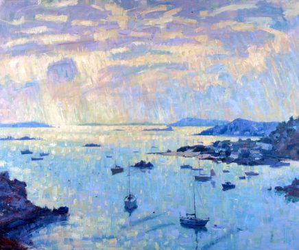 Looking Towards St Agnes from King Charles's Caste, Morning Light (HG415) Oil on Canvas 38