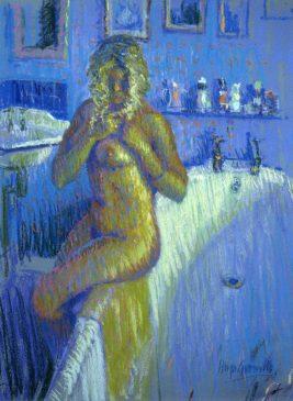 Charlotte Plaiting her Hair (HG71) Pastel 24