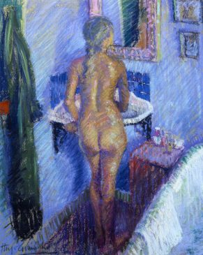 Girl Standing at the Washbasin II (HG72) Pastel 20