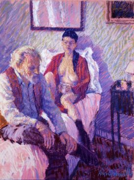 The Red Dressing Gown (HG76) Pastel 25
