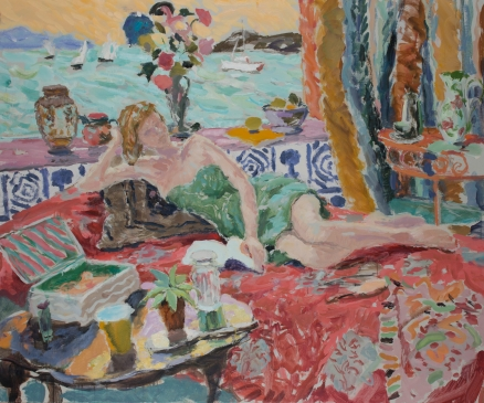 Dreaming by the Sea (HG1129) Oil on Canvas 30