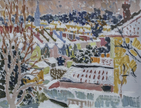 HG 1273 Snowstorm  Oil on Canvas 20