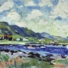 """HG1293 The Bay at Kilchoan  Oil on Canvas 18"""" x 36"""""""