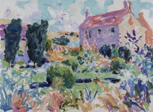HG 1207 A Wiltshire Garden II  Oil on Canvas 16