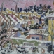 HG1272 Snowy Rooftops Oil on Canvas 20
