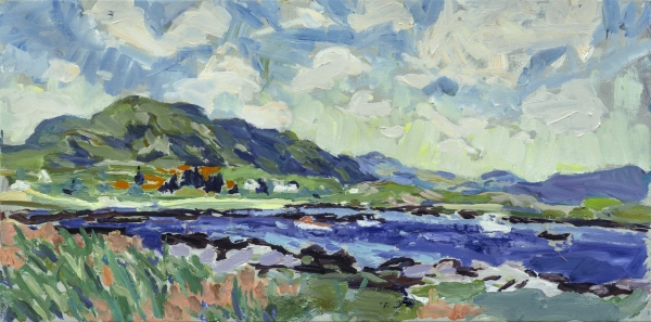 HG 1293 The Bay at Kilkoan  Oil on Canvas 18