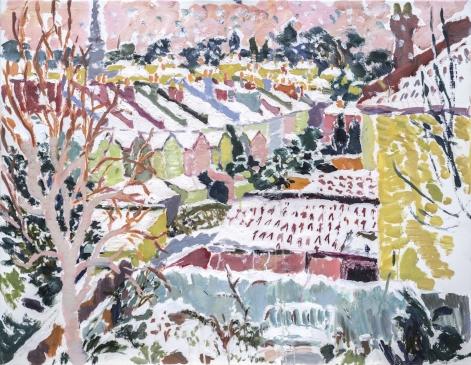 HG 1306 Snowfall II  Oil on Canvas 28