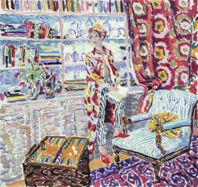 "Isobel at Vigoroux (HG1315) Oil on Canvas 34"" x 36"""
