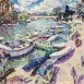 "Spring Day: the Thames at Richmond (HG1321) Oil on Canvas 30"" x 50"""