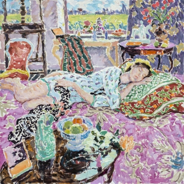 "Somewhere Long Ago (HG1335) Oil on Canvas 42"" x 42"""