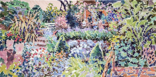 "Midsummer Supper (HG1354) Oil on Canvas 24"" x 48"""