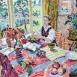 """The Last of the Dahlias (HG1359) Oil on Canvas 34"""" x 42"""""""