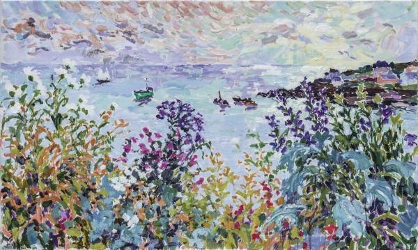 'Cornish Sunrise' (HG1357) Oil on canvas 30