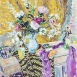Still Life in Yellow and Pink (HG1366) Oil on canvas  36