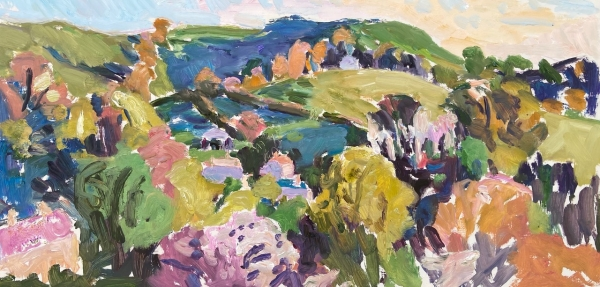 'Pitcher's Hill, Spring Evening' Oil on canvas 18