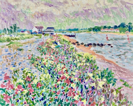 On the Banks of the Deben - June Afternoon (HG1417) Oil on canvas 38