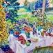 Déjeuner au Jardin (HG1422) Oil on canvas 38