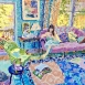 Summer in the Drawing Room (HG1416) Oil on canvas 32
